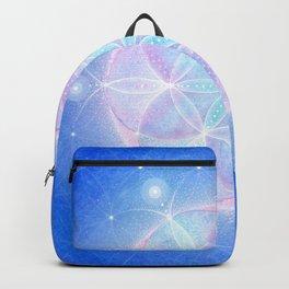 Flower of Life Energy Mandala   Light Frequency Sacred Geometry Mandala   Seed of Life Art  Backpack