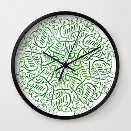 Fuck Cancer Mandala Wall Clock