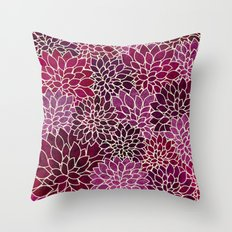 Floral Abstract 12 Throw Pillow