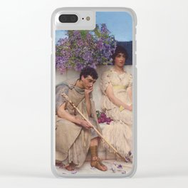 An Eloquent Silence , Lawrence Alma-Tadema, 1890 Clear iPhone Case