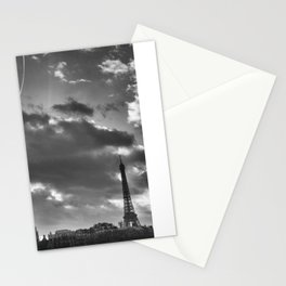 Eiffel tower under the clouds Stationery Cards