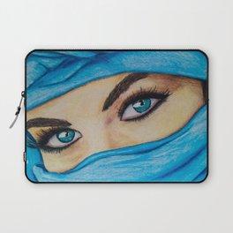 Blue-Eyed Girl Laptop Sleeve