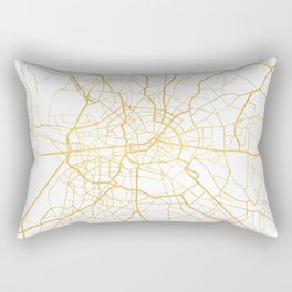 BERLIN GERMANY CITY STREET MAP ART Rectangular Pillow