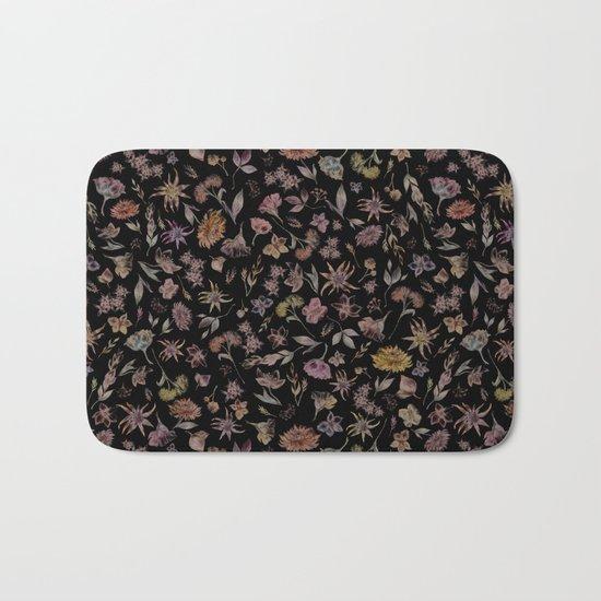 Botanical Study- Dark Colorway Bath Mat