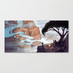 Mist-Covered Mountain Canvas Print
