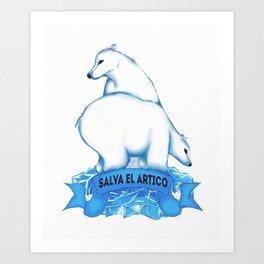 Salva el Ártico | Osos Art Print