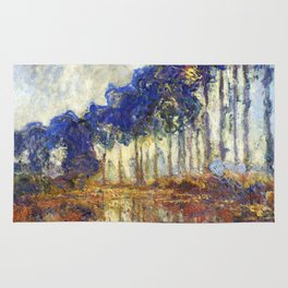 Poplars on the Bank of the Epte River by Claude Monet Rug