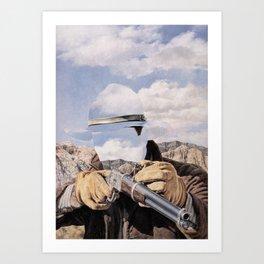 The Unknown Rider Buckskin Run Art Print