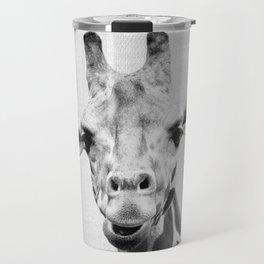 Giraffe 2 - Black & White Travel Mug