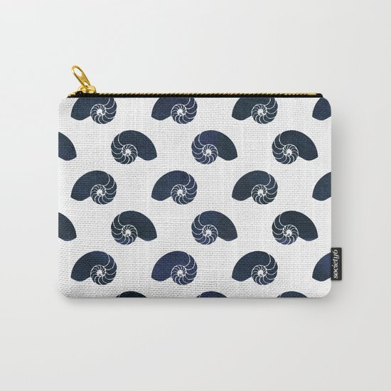 Navy blue maritime sea shell pattern- Animals Carry-All Pouch
