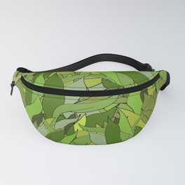 Green Bamboo Leaves Fanny Pack