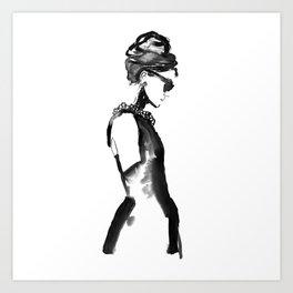 Inked Audrey Art Print