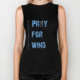 Kiteboarding Humor Kneeling Skeleton Praying For Wind Biker Tank