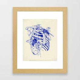 collarbone blue Framed Art Print