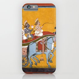 Krishna and Balarama Being Driven by Akrura to Mathura iPhone Case