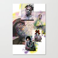 basquiat Canvas Prints featuring Basquiat by Andrew Spangler
