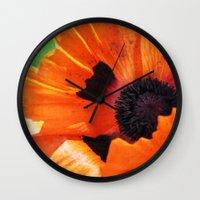 poppy Wall Clocks featuring POPPY by Teresa Chipperfield Studios