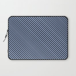 Serenity and Black Stripe Laptop Sleeve