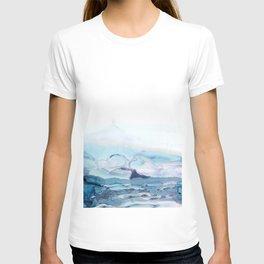 Indigo Abstract Painting | No.6 T-shirt