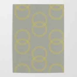 Simply Infinity Link Mod Yellow on Retro Gray Poster