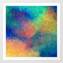 Reflecting Multi Colorful Abstract Prisms Design Art Print