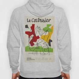 Le Corbusier - Vintage french exhibition poster Hoody