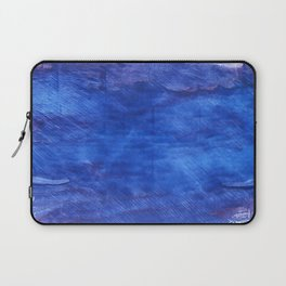 Cerulean blue abstract watercolor Laptop Sleeve