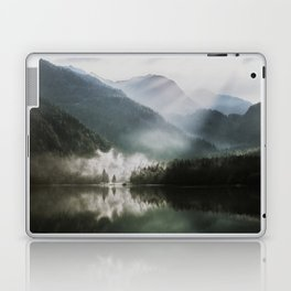 Dreamlike Morning at the Lake - Nature Forest Mountain Photography Laptop & iPad Skin