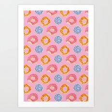 sweet things: doughnuts (pink) Art Print