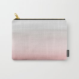 Touching Blush Gray Watercolor Abstract #1 #painting #decor #art #society6 Carry-All Pouch