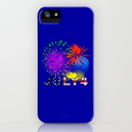America 4th of July Fireworks iPhone Case