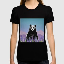 Black Bear in Lupine T-shirt