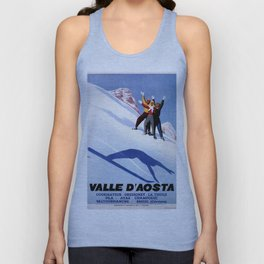 Aosta Valley winter sports Unisex Tank Top