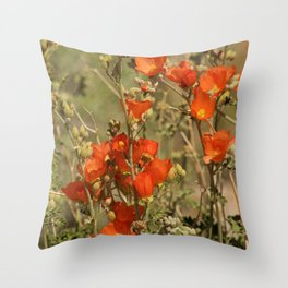 Desert Wildflower - 4 Throw Pillow