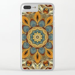 Flower Of Life Mandala (Nature's Warmth) Clear iPhone Case