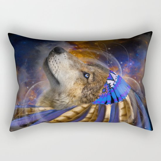 Fight For What You Love (Chief of Dreams: Wolf) Tribe Series Rectangular Pillow