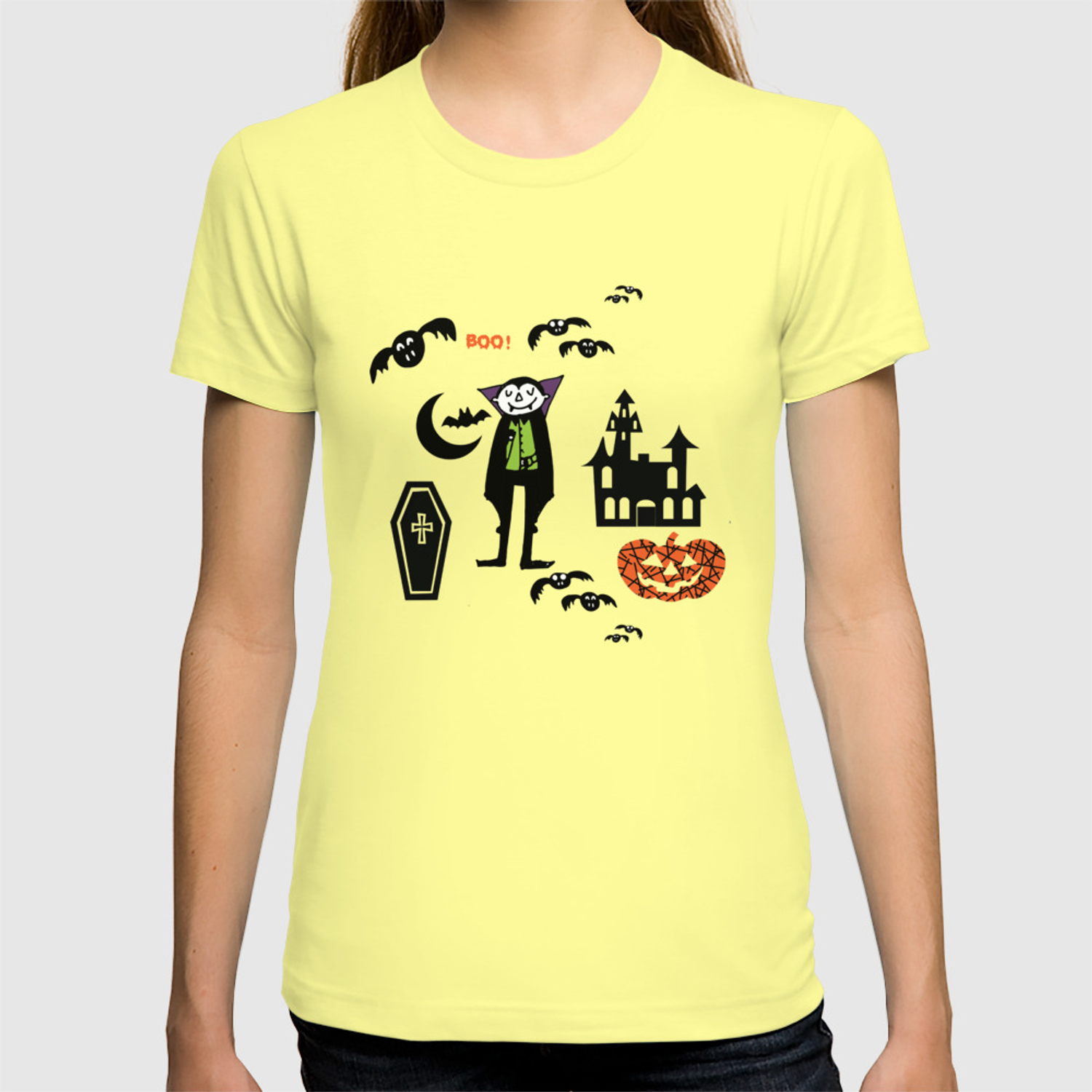 Halloween Friends Shirt.Cute Dracula And Friends Blue Halloween T Shirt