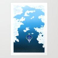 kingdom hearts Art Prints featuring Kingdom Hearts by Kiwikidinc