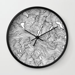 Enveloping Lines Wall Clock