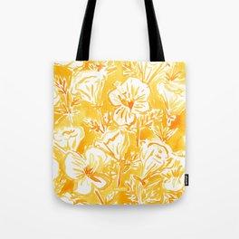 CALI POP Yellow California Poppies Tote Bag