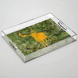 Deer on Green Camo Acrylic Tray