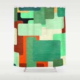 Levels, Mid Century Design Shower Curtain