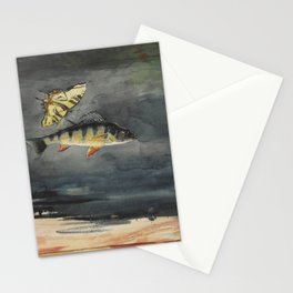 Vintage Winslow Homer Fish & Butterfly Painting (1900) Stationery Cards