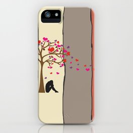 woman under the tree iPhone Case