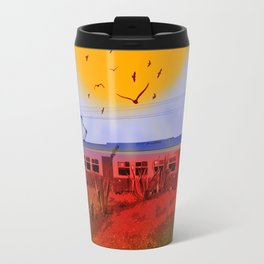 The Train Passed By Travel Mug