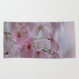 Delicate Pink Blossoms Beach Towel
