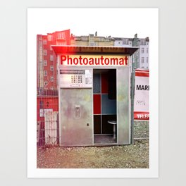 Photoautomat in Berlin Art Print