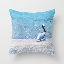 Strutting Pelican Throw Pillow