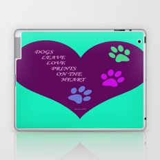 Dogs Leave Love Prints On The Heart By Annie Zeno  Laptop & iPad Skin