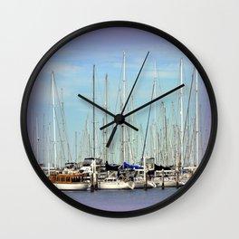 Armada of Yatchs Wall Clock